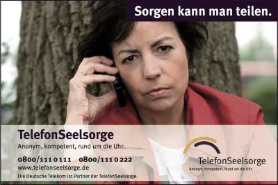 Sorgen kann man teilen - TelefonSeelsorge